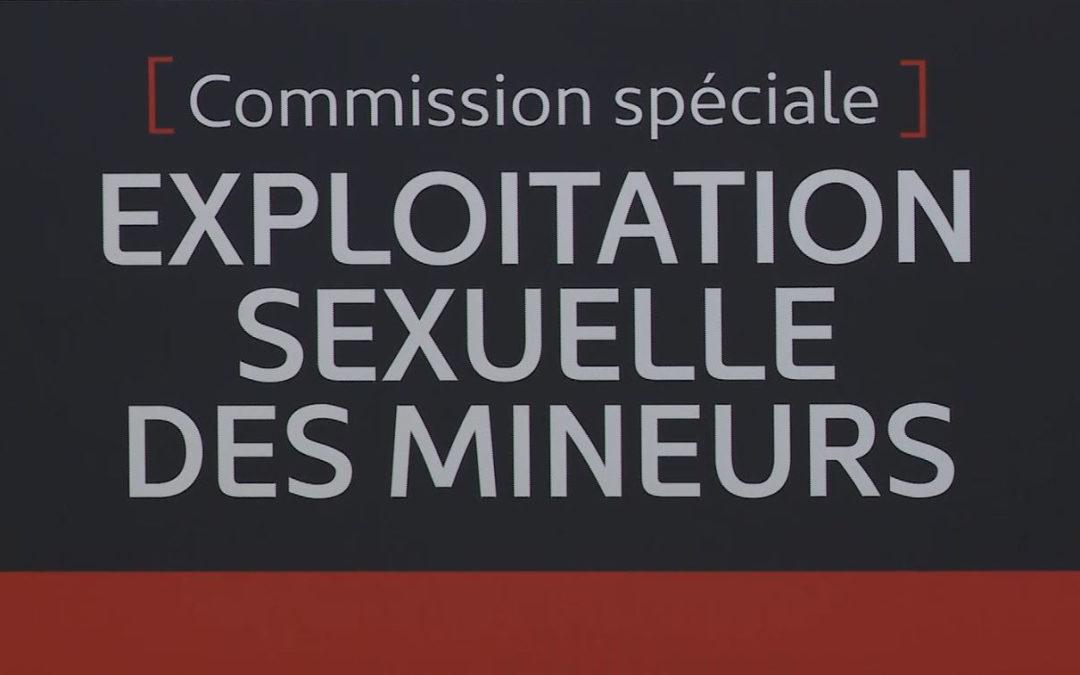 Commission spéciale sur l'exploitation sexuelle des mineurs (French Only)